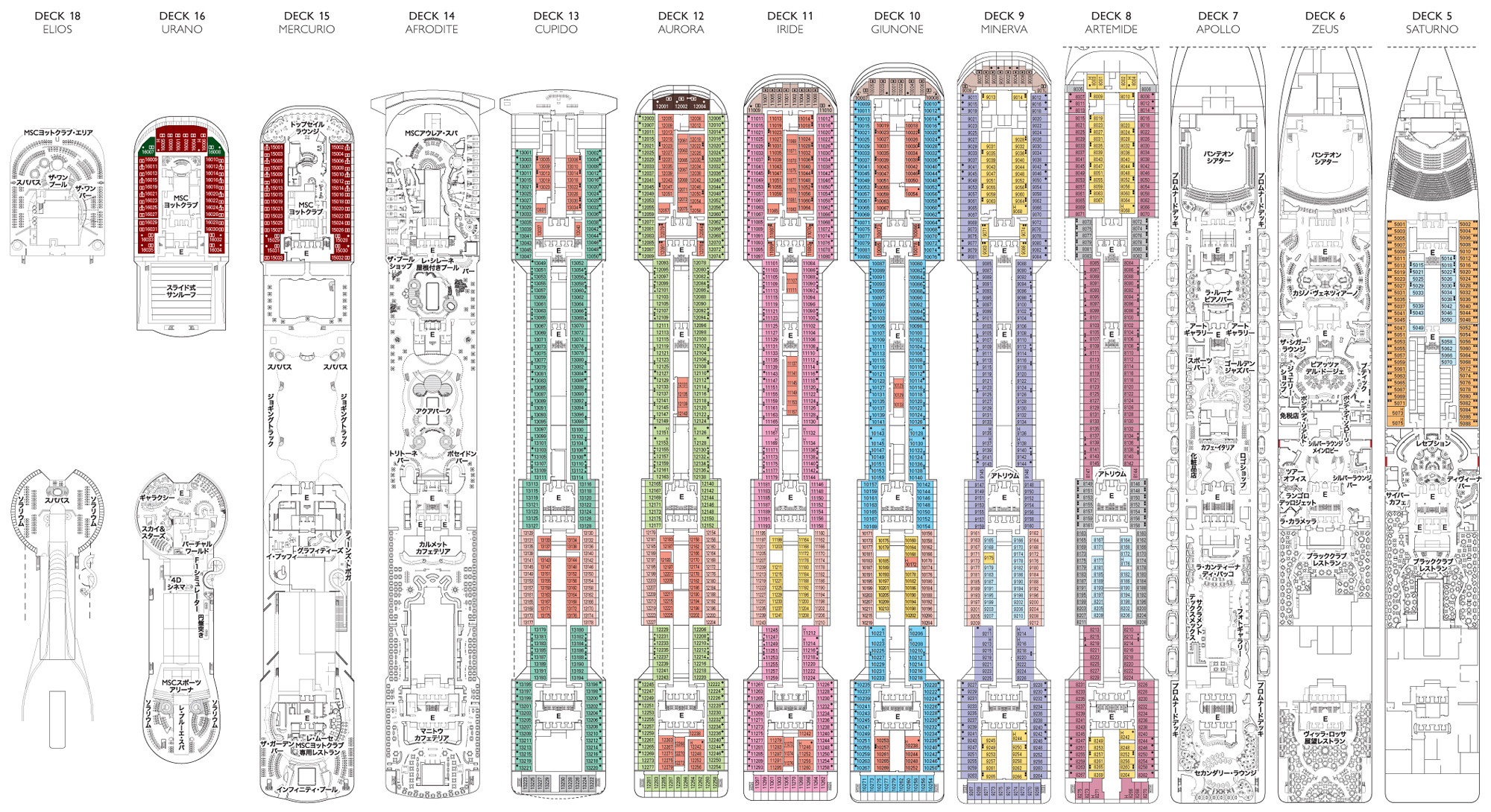Pin deck plan msc splendida from 24052013 on pinterest for Deckplan msc splendida
